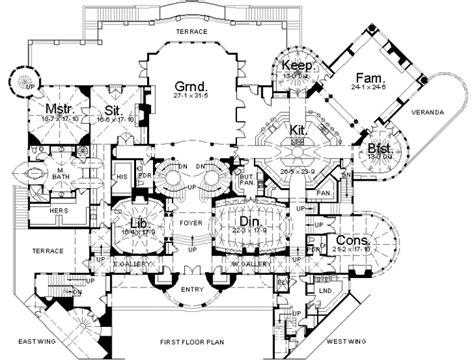 East Wing Floor Plan by Floorplans Homes Of The Rich Page 2