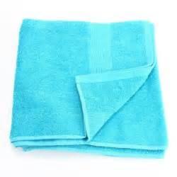 serviette de bain 70 x 130 cm turquoise achat
