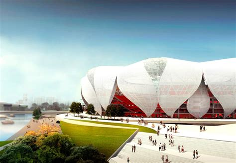 Building Plan by Hangzhou Olympic Sports Center Nbbj
