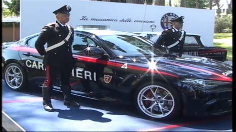 the carabinieri receive two alfa romeo giulia quadrifoglio