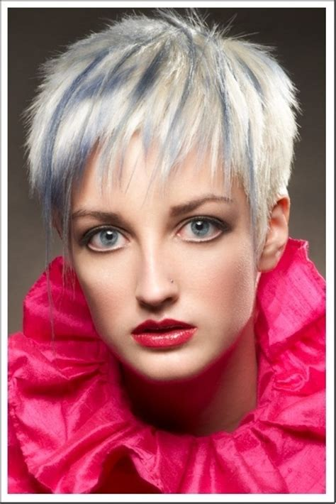 funky hairstyle for silver hair versatility of medium length haircut september 2012