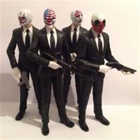 payday 2 figures payday 4 pack dc direct custom figure
