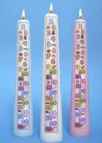 countdown candle the original numbered countdown birthday candles by