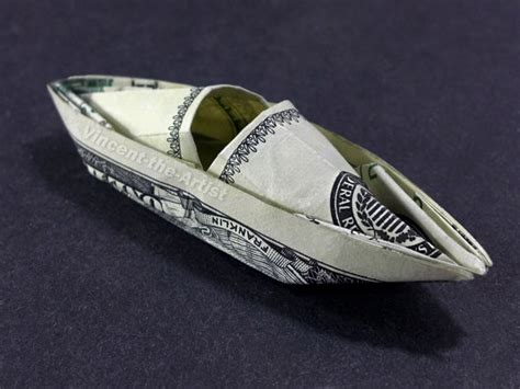 Dollar Origami Boat - items similar to hundred dollar bill origami kayak boat