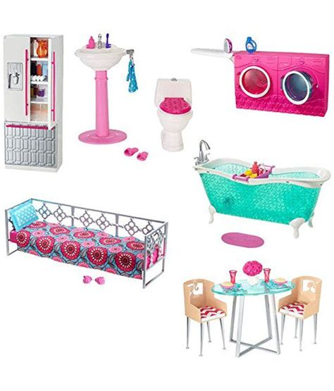 barbie glam bathroom barbie doll and bathroom furniture set available at