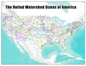 watershed map what the west would look like with state boundaries