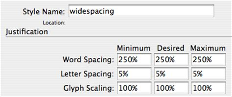 Indesign Justification Letter Spacing Adjust Word Spacing In Paragraph Styles Indesignsecrets Indesignsecrets