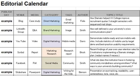 social media editorial calendar template months social media editorial calendar for 4 social
