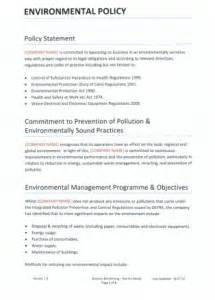 Environmental Statement Template by Management Statement Template Bestsellerbookdb