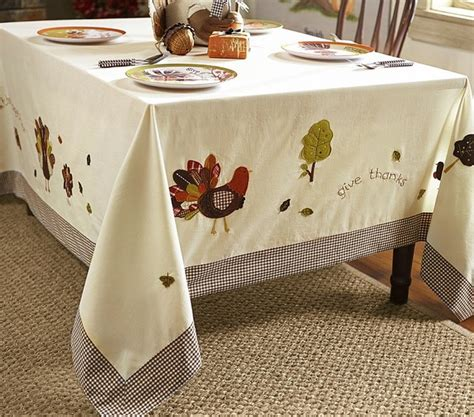 thanksgiving tablecloth contemporary holiday decorations by pottery barn kids
