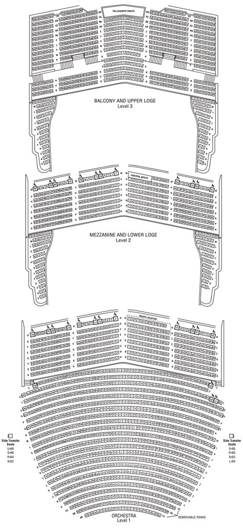 san diego civic center seating san diego civic theatre seating chart