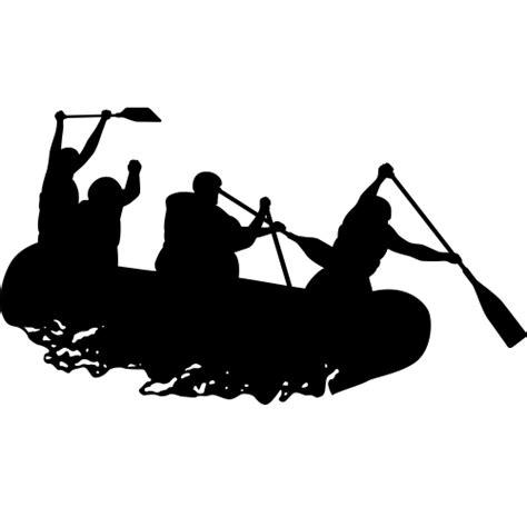 white silhouette high adventure decor silhouettes white water rafting
