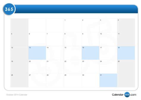 Calendar For October 2014 October 2014 Calendar For Free Formtemplate