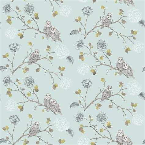motif pattern wallpaper arthouse night owl floral pattern bird flower leaf