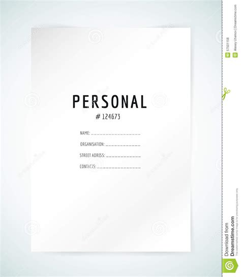 form blank template business folder paper and stock