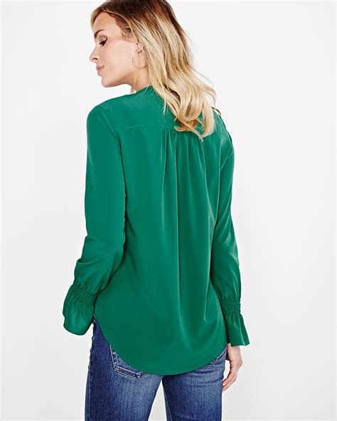 Bow Neck Blouse by Ruffle Bow Neck Blouse Rw Co