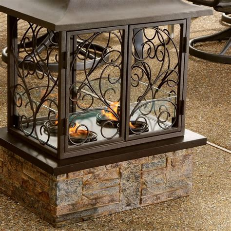 Tuscan Outdoor Fireplace by Tuscan World Garden Decor Iron Outdoor Fireplace