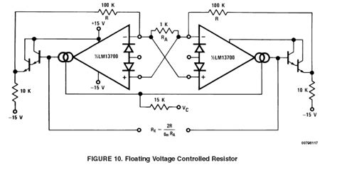 what is a voltage controlled resistor supplemental lm13700 application exles