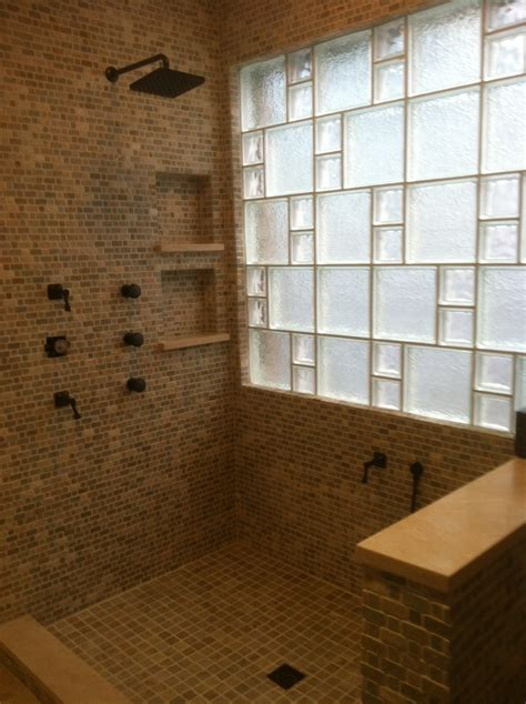 glass block bathroom ideas glass blocks for beautiful bathroom windows houston