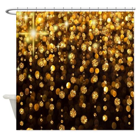 white and gold shower curtain gold sparkles shower curtain by coolbedding