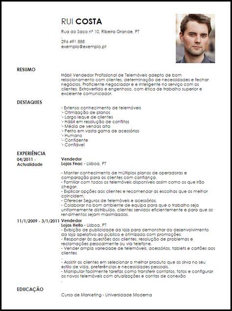 Modelo Curriculum Vitae Para Vendedores Modelo Curriculum Vitae Vendedor Profissional De Telemoveis Livecareer