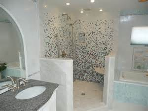 Lamps Chandeliers Glass Tile Shower Eclectic Bathroom Philadelphia
