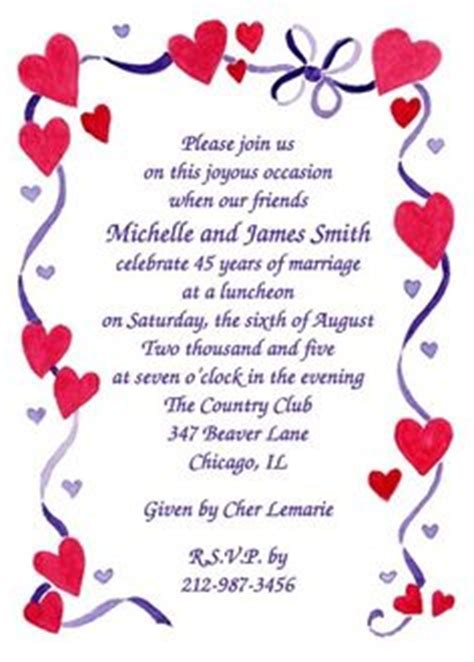 Anniversary Invitations for Weddings on Pinterest   Golden