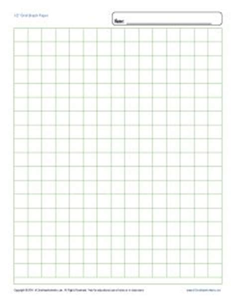 Math Worksheets Graph Paper by Printable Graph Paper 1 2 Inch Grid Free Blank Template