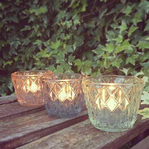Three Glass Votive Tea Antique Vintage Light Holders By | three glass votive tea antique vintage light holders by