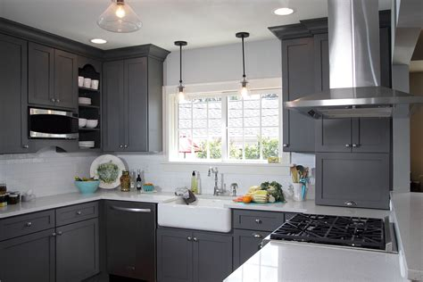 grey shaker kitchen cabinets best design of small kitchen ideas with dark grey shaker