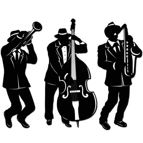 jazz trio silhouettes mardi gras