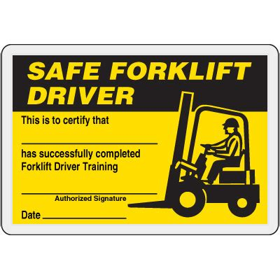 free forklift certification card template safe forklift driver card emedco