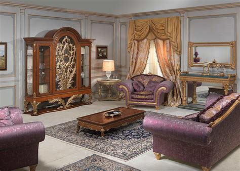 showcase in living room louis xvi style living room glass showcase sofa and armchair small table and console