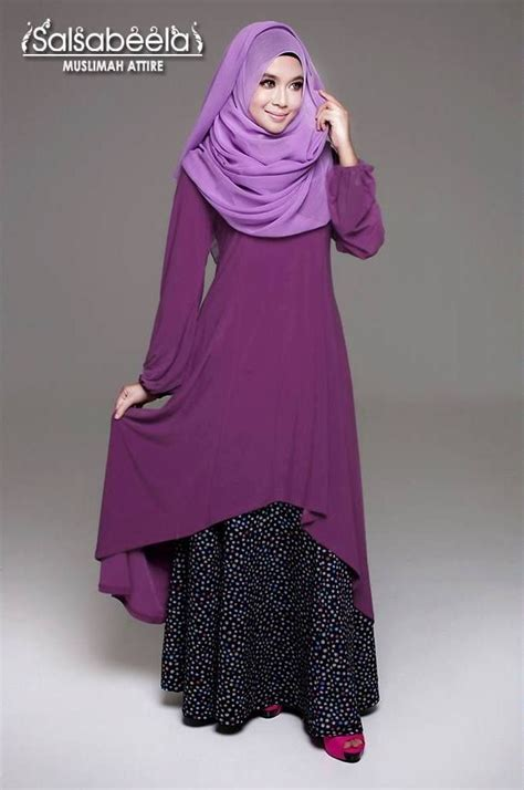 Dress Muslimah muslimah purple fishtail dress abaya jubba and gown