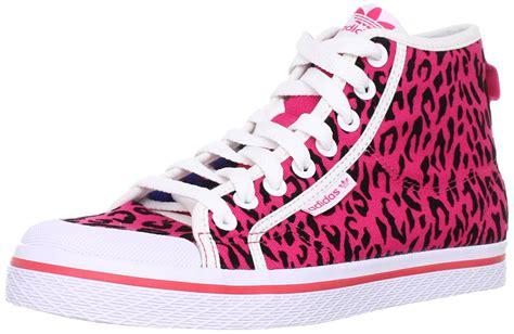 adidas original canvas honey mid s pink leopard