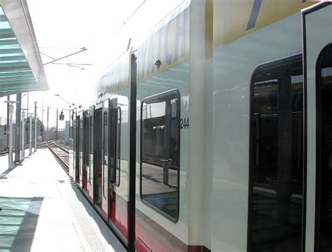 Light Rail To Airport by Station At The Airport