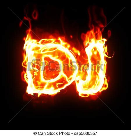 dj fire burning dj word dj word on fire stock illustrations