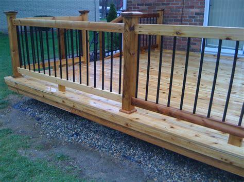 metal balusters  deck railings autumnwoodconstruction