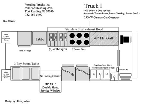 truck cer floor plans food truck floorplan food trucks pinterest trucks