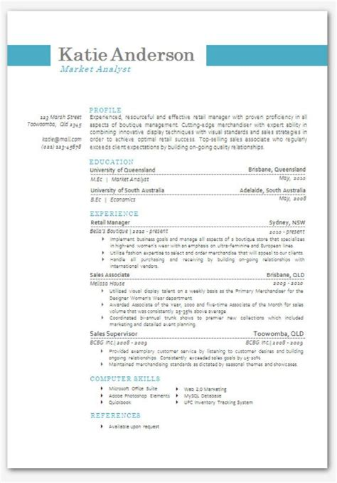 Resume Te by Modern Microsoft Word Resume Template 05