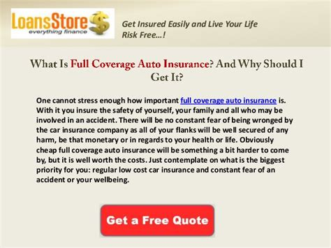 full coverage auto insurance quotes  cheap full