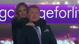 Mixed Sleeper Hold by Ronda Rousey Chokes Footy Show Hosts Paul Fatty Vautin And Erin Molan Live On Air Daily Mail