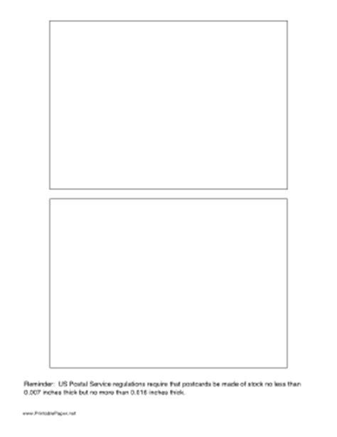 Printable Large Postcard Jumbo Postcard Template