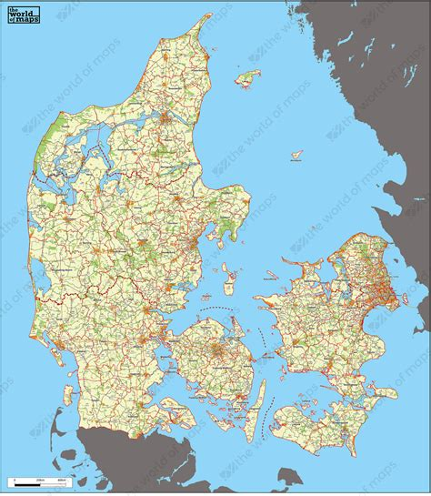 zip code map europe digital zip code map denmark 229 the world of maps com