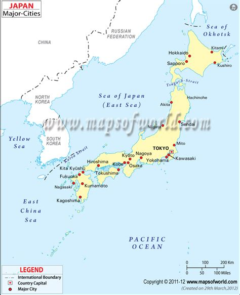 japan cities map major cities in japan