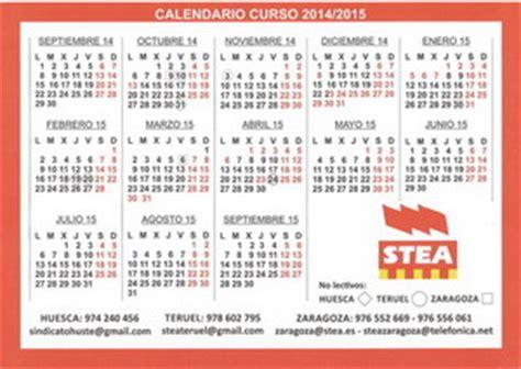 Calendario Escolar Aragon Curso 2015 16 Stea I Federaci 243 N De Sindicatos De Trabajadores As De La