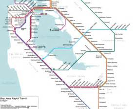 sf bart map alternate reality bart map maps of san francisco