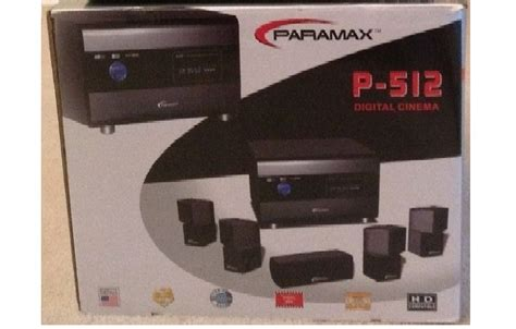 reduce new in box paramax p 512 5 1 channel home theater