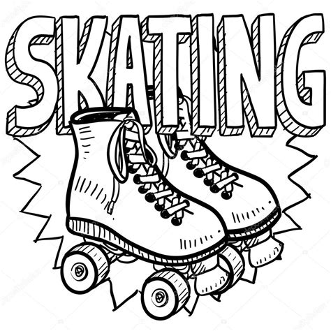 free boy roller skating coloring pages
