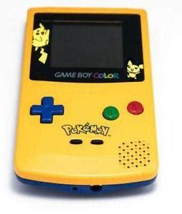 gameboy color pikachu edition pikachu gameboy consoles ebay